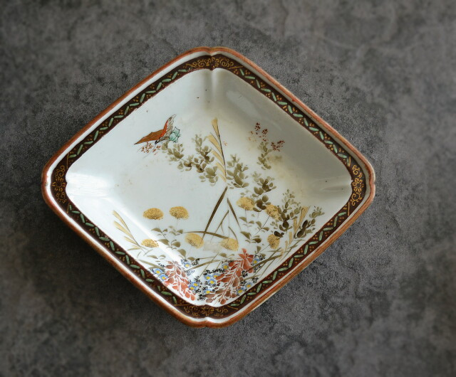 九谷焼菱形皿