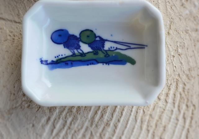 染付印判豆皿