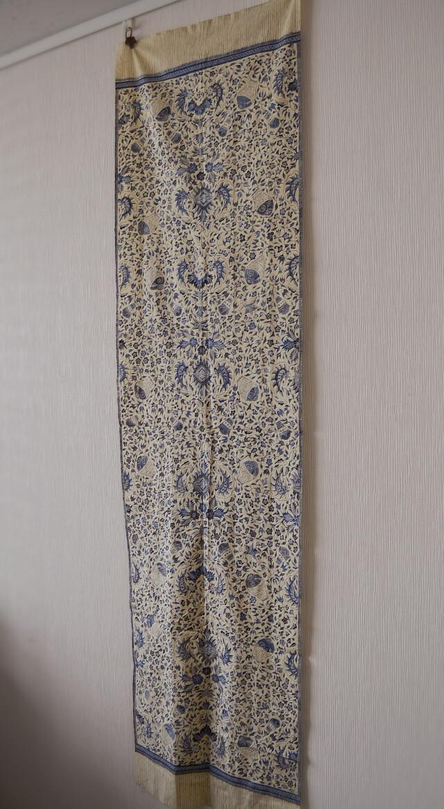 バティック ジャワ更紗 シルク コットン スカーフ