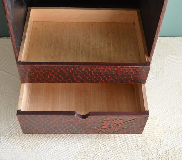 鎌倉彫 翁面 鏡台 鏡箱