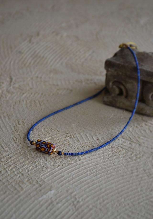 アンティーク蜻蛉玉ネックレス