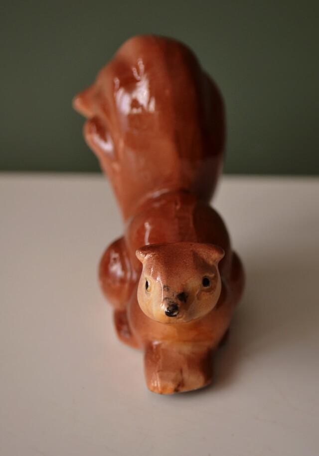 昭和レトロ 可愛い小さなリスのフィギュリン