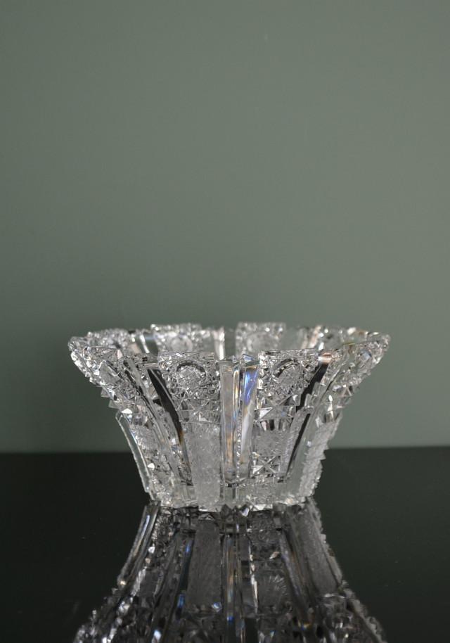カメイガラス ボヘミアンカット ボウル 三点セット 小2 大1
