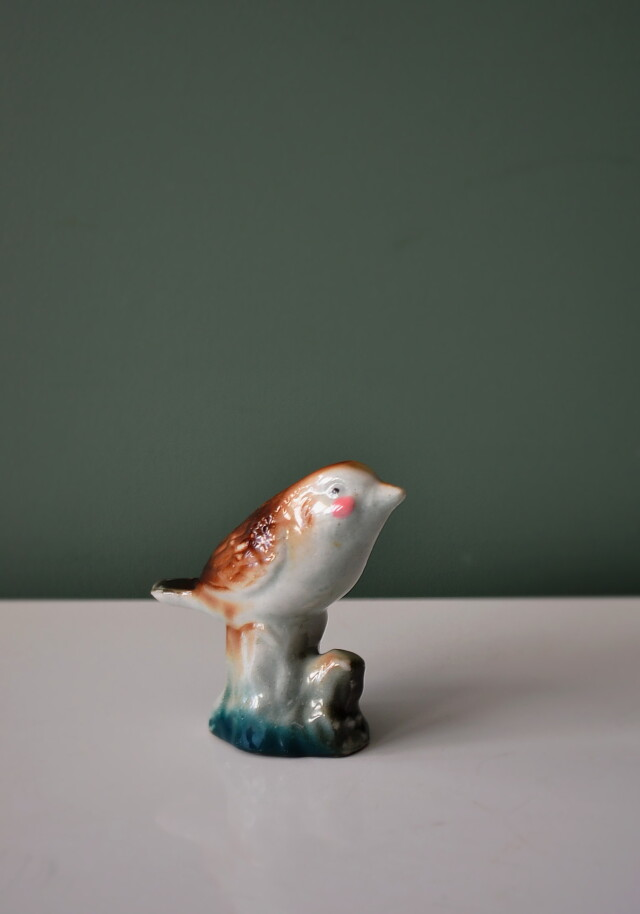 昭和レトロ 小さな鳥のフィギュリン