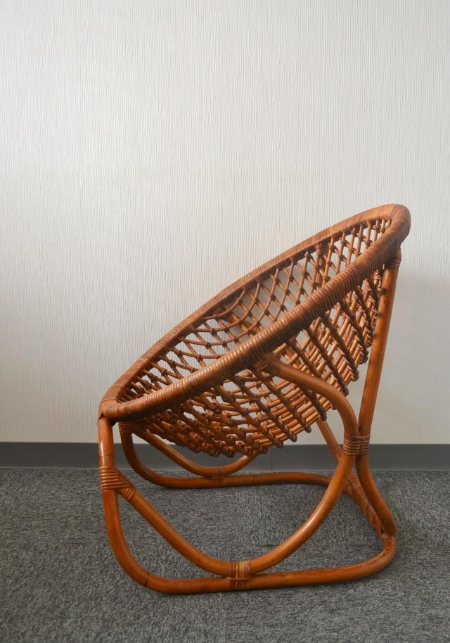 ラタンチェア 籐の椅子 バンブーチェア