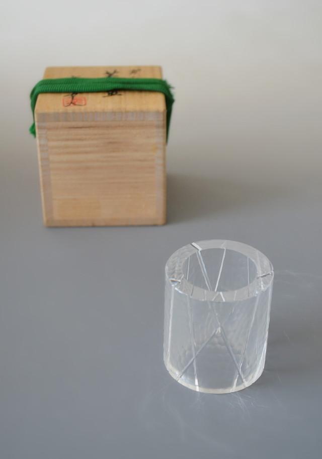 硝子蓋置 高橋幸夫作 茶道具