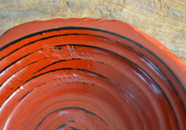 裏木曾塗 茶托 小皿 漆器 根来 五枚組 直径140mm
