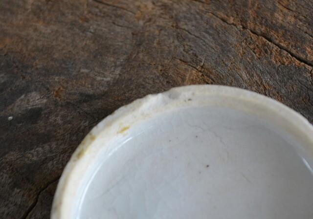 染付印判金魚紋朱肉入れ 蓋物 香合