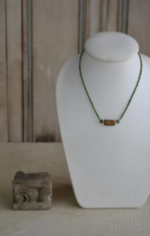 アンティーク蜻蛉玉 ネックレス