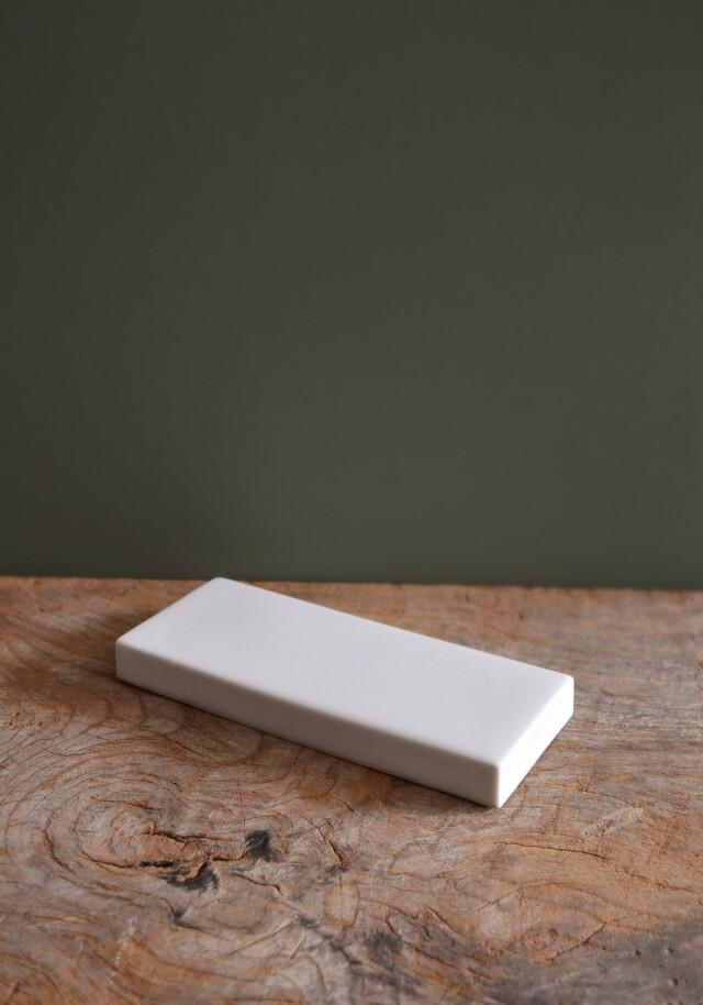 白磁陶板 タイル 白磁台 カッティングボード  長皿 表札 大