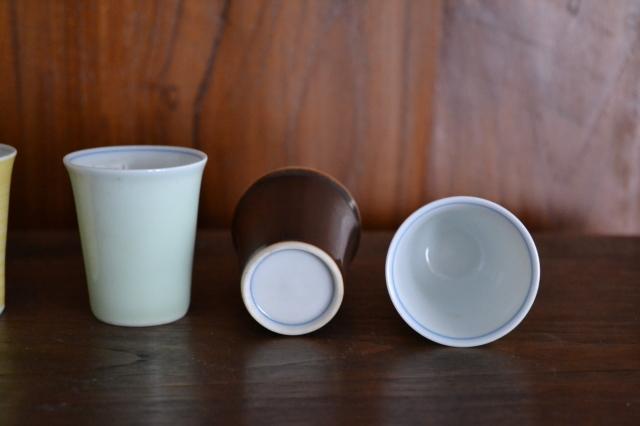 昭和レトロ お猪口 ぐいみ 御煎茶碗 5色1組