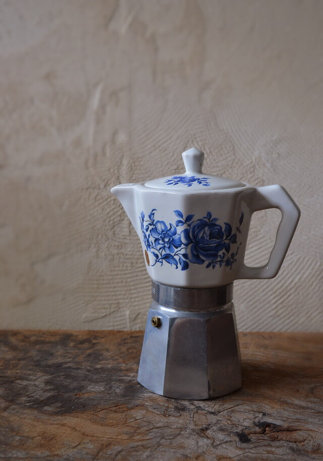 イタリア製 パーコレーター 染付陶器