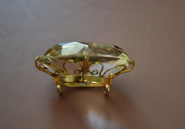 水晶帯留め アンティーク 和装小物