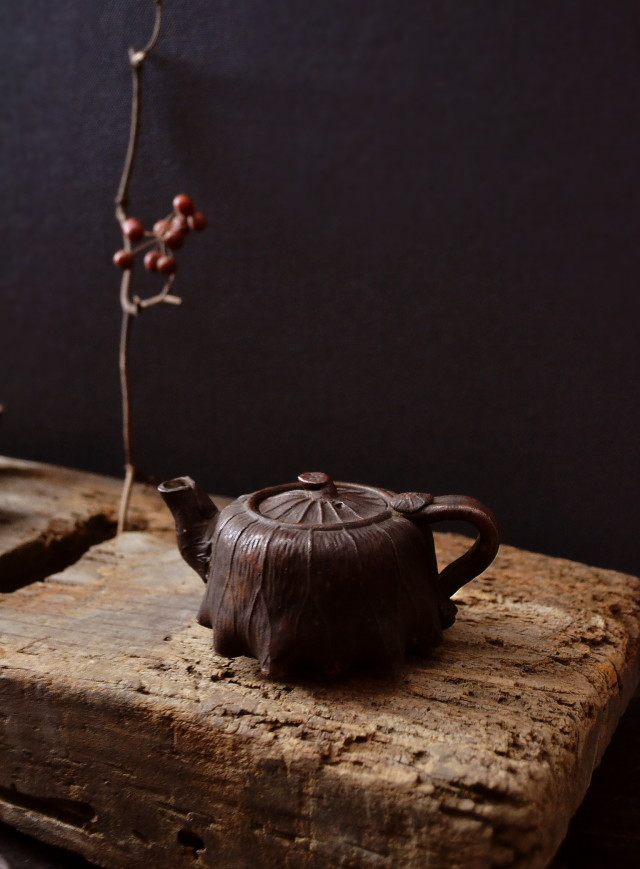備前焼き 煎茶セット 蓮