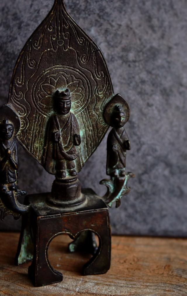 三尊立像 小仏 小銅仏 中国アンティーク