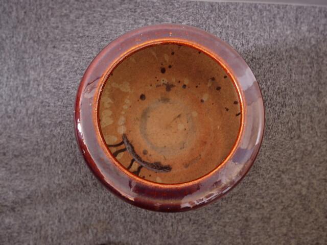 飴釉火鉢 インテリア火鉢 睡蓮鉢 鉢カバー ミニテーブル直径465mm 信楽火鉢