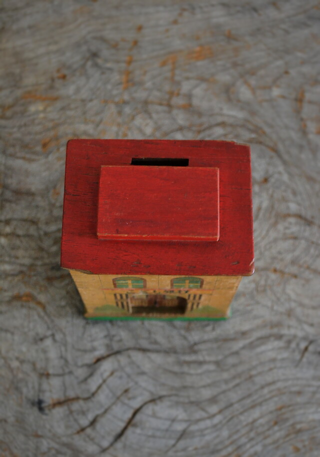 こども銀行木製貯金箱