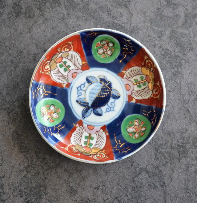 色絵五寸皿 五枚組 156cm