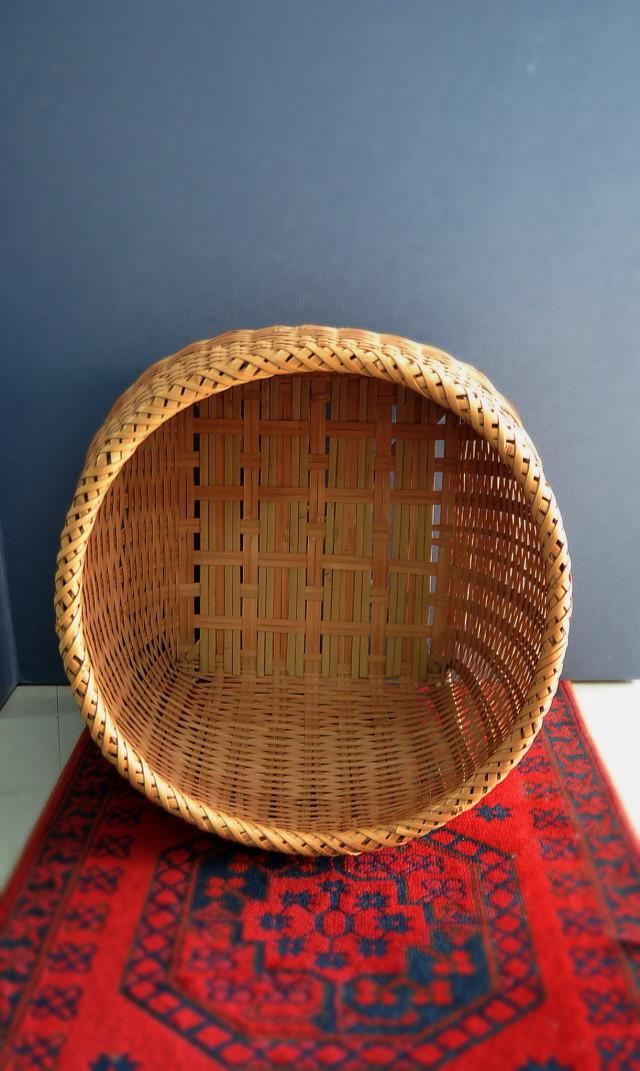 竹籠(大)  インテリア ランドリーBOX
